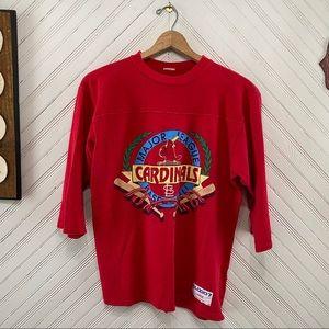 Vintage 1989 St Louis Cardinals 3/4 Sleeve Shirt